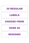 Personalised 30 Regular Value Labels Pack