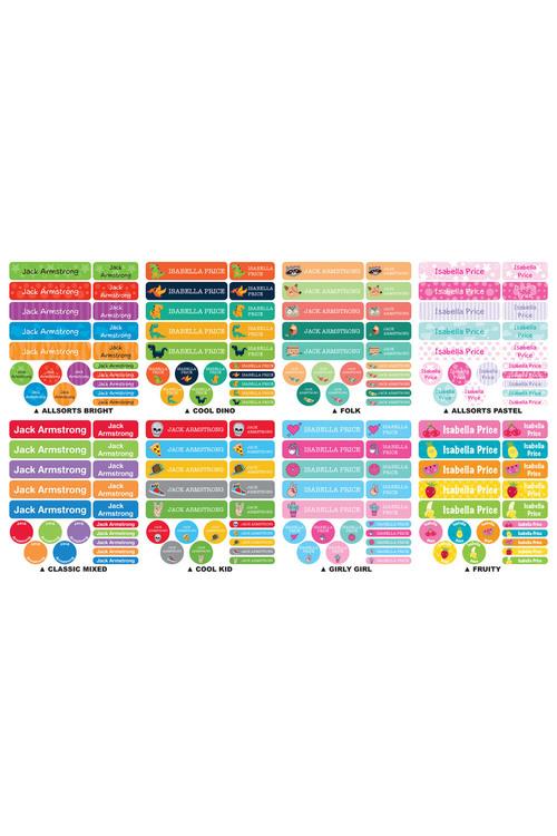 Personalised 120 Essential Labels Pack