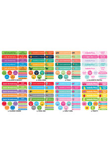 Personalised 120 Essential Labels Pack - 281846
