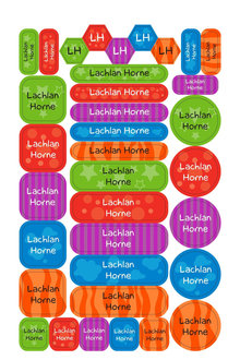 Personalised 35 Allsorts Combination Labels Pack - 281861