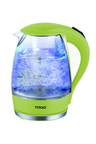 TODO 1.7L LED Clear Glass Kettle