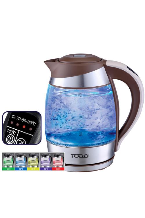 TODO 1.8L LED Temperature Control Glass Kettle