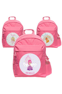 Personalised Lil Super Stars Medium Pink Backpack - 281915