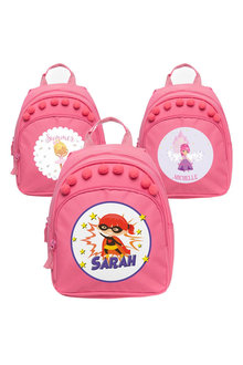 Personalised Lil Super Stars Mini Pink Backpack - 281916