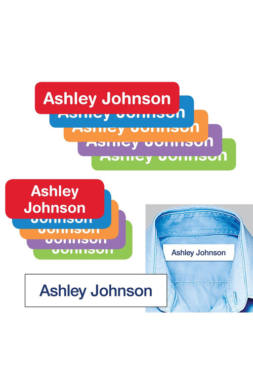 Personalised School Essentials Name Labels & Iron-on Labels Value Pack