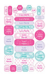 Personalised 35 Allsorts Pastel Combination Labels Pack