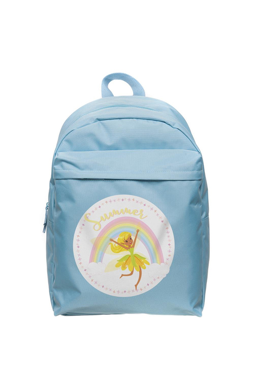 Personalised Lil Super Stars Large Pale Blue Backpack