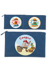 Personalised Lil Super Stars Large Navy Pencil Case