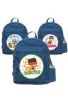 Personalised Lil Super Stars Medium Navy Blue Backpack