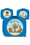 Personalised Lil Super Stars Navy Lunch Bag