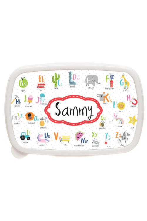 Personalised Alphabet Lunch Box
