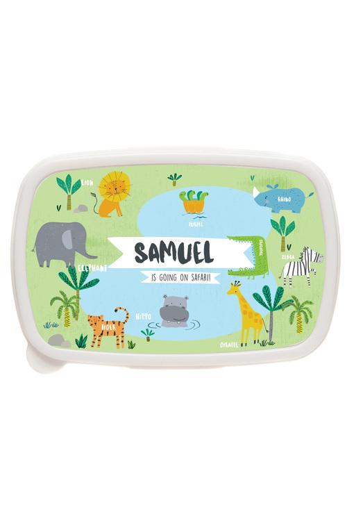 Personalised Safari Lunch Box