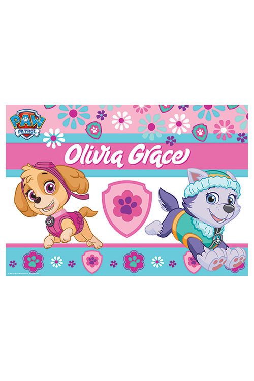 Personalised Paw Patrol Pup Power Placemat