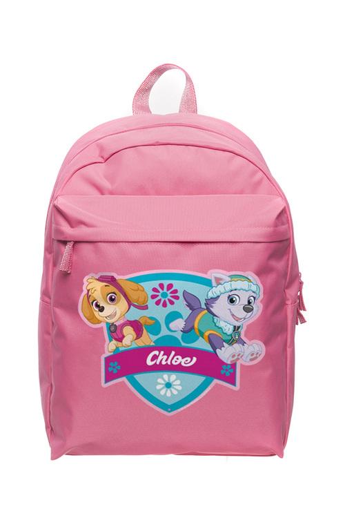 Personalised Paw Patrol Pup Power Aqua Large Pink Backpack
