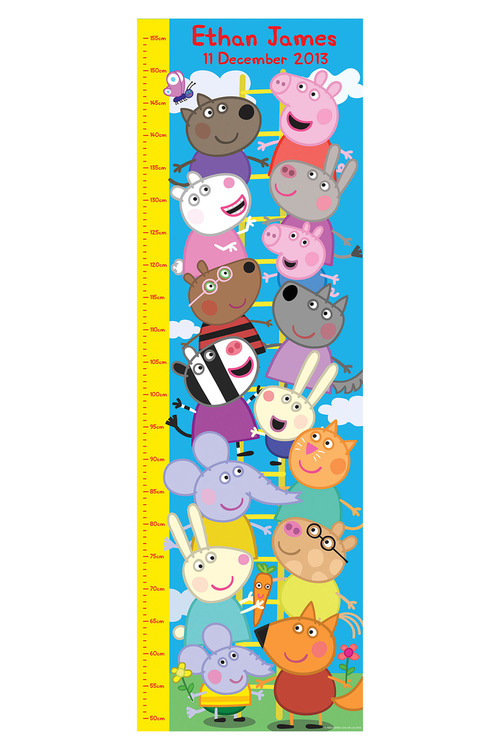 Personalised Peppa Pig Growth Chart