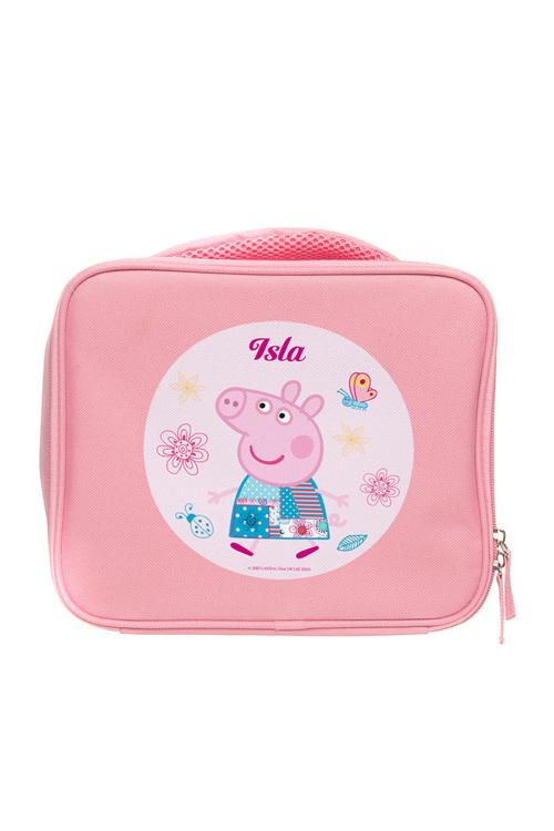 Personalised Peppa Pig Pink Lunch Bag