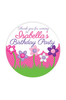 Personalised 12 Princess Party Thank You Round Name Labels Pack - 281989