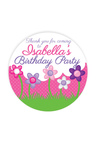 Personalised 12 Princess Party Thank You Round Name Labels Pack