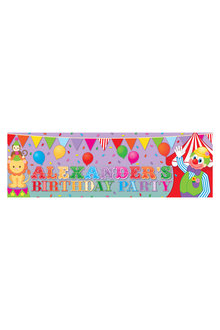 Personalised Circus Party Birthday Banner - 281990