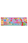 Personalised Circus Party Birthday Banner