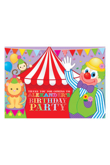 Personalised Circus Party Thank You Cards 12 Pack - 281992