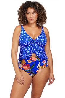 Artesands A'Pois Blue Chagall Midriff Bikini Top - 282408