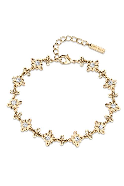 Mestige Golden Soulful Anklet with Swarovski® Crystals