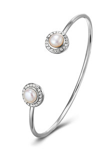 Mestige Ayla Bangle with Swarovski® Crystals and Freshwater Pearls - 282457