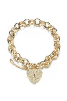 Mestige Golden Heart-throb Bracelet with Swarovski® Crystals - 282461