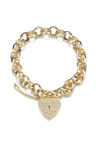 Mestige Golden Heart-throb Bracelet with Swarovski® Crystals