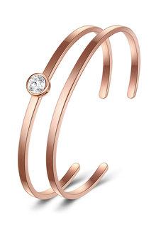 Mestige Rose Gold Kaia Bangle Set with Swarovski® Crystals with - 282465