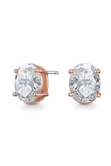Mestige Rose Gold Allura Earrings with Swarovski® Crystals - 282474
