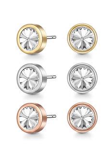 Mestige Elements Trio Earrings with Swarovski® Crystals - 282477