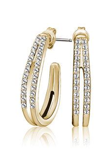 Mestige Golden Ella Earrings with Swarovski® Crystals - 282479