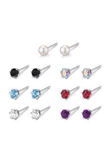 Mestige Staple Everyday Pack Earrings with Swarovski® Crystals - 282483