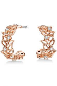 Mestige Rose Gold Filigree Earrings with Swarovski® Crystals - 282485