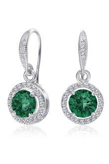 Mestige Emerald Liberty Earrings with Swarovski® Crystals - 282496