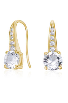 Mestige Golden Crystal Lyrical Earrings with Crystals from Swarovski® - 282499