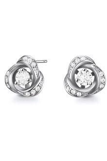 Mestige Rosette Earrings with Swarovski® Crystals - 282501