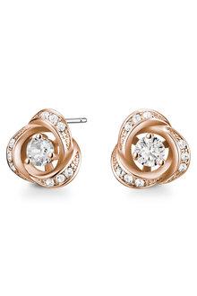 Mestige Rose Gold Rosette Earrings with Swarovski® Crystals - 282505