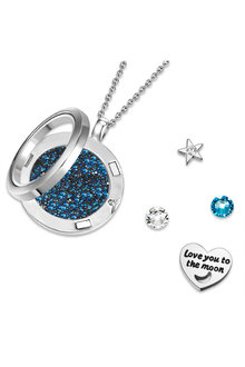 Mestige Love You To The Moon and Back Floating Charm Necklace with - 282507