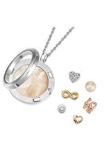Mestige Show Me Love Trinity Floating Charm Necklace with Swarovski® - 282512