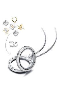Mestige Little Angel Dual Floating Charm Necklace with Swarovski® - 282516