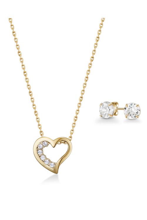 Mestige Golden Eternal Set with Swarovski® Crystals