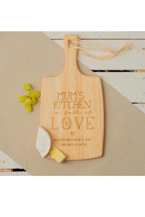 Personalised Mum's Kitchen Cheese Board