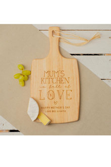 Personalised Mum's Kitchen Cheese Board - 282683