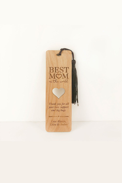 Personalised Engraved Best Mum in the World Bookmark