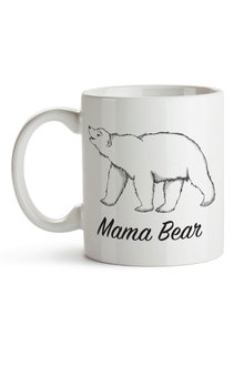 Personalised Mumma Bear With One Baby Bear Ceramic Mug - 282687