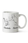 Personalised Mumma Bear With Two Baby Bears Ceramic Mug