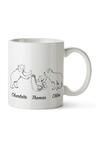 Personalised Mumma Bear With Three Baby Bears Ceramic Mug